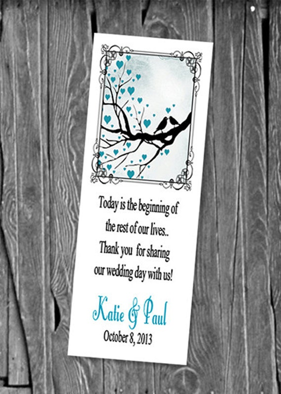 Great Wedding Gifts Under 100 : 50, 100 or 150 Love Birds Bookmarks, Great Wedding Party Favors ...