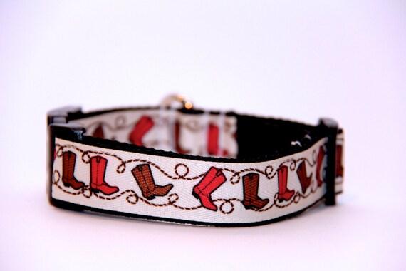 Cowboy Dog Collar, FREE SHIPPING, cowboy, cowboy boots, adjustable dog collar, dog collar, boots, country