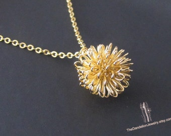 SALE 10% OFF: Dandelion Necklace Pendant Necklace Charm Necklace Jewelry Gift