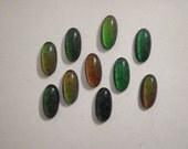 10 Vintage Glass 18x9mm Real Working Moodstones