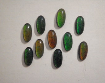 10 Vintage Glass 18x9mm Real Working Moodstones