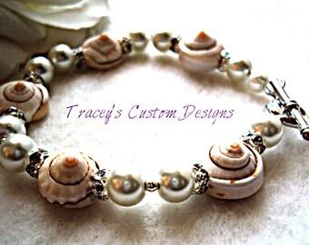 """The """"Life's A Beach"""" Sea shell bracelet - CUSTOM MADE DESIGNS"""