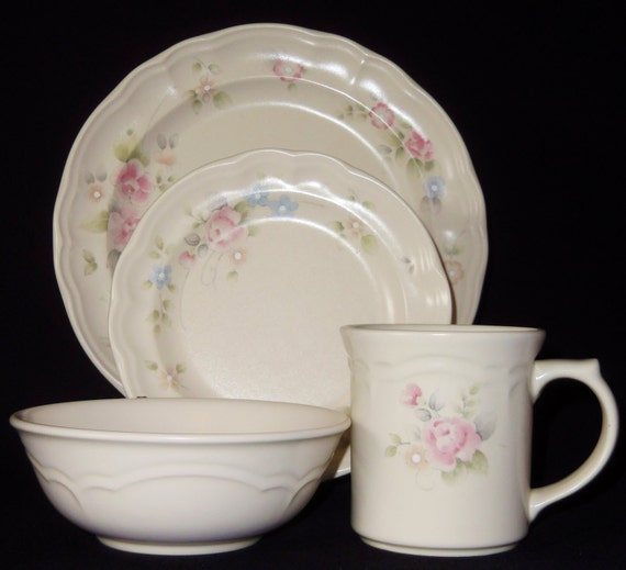 Vintage Pfaltzgraff Tea Rose Service For 7 By Beautyeverlasting