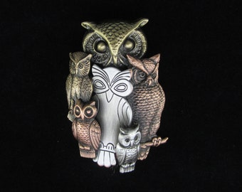 Owl Brooch- Owl Jewelry- Owl Pin