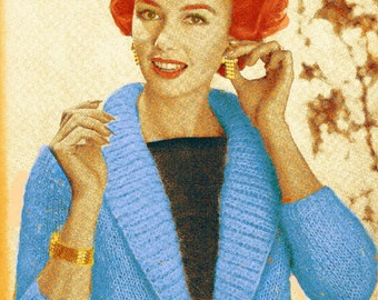 Almost FREE Vintage 1960s Tailored Elegance Sweater Jacket 154 PDF Digital Knit Pattern
