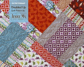 Doubled Up PDF Lap & Baby Quilt Patterns for Beginning Quilters, Basic Baby Quilt Pattern, Layer Cake Pattern, Stackers, Easy Quilt Pattern