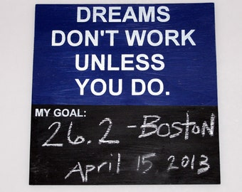 Inspirational Chalkboard Goal Tracker sign