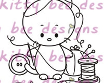 Sewing Kit Digital Stamp