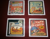Wacky Packs Retro Coasters Set 2