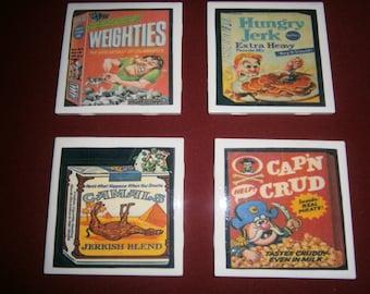 Wacky Packs Retro Coasters Set 2