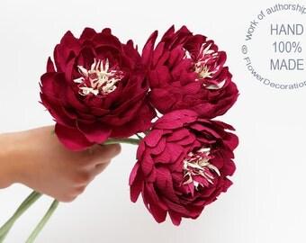 wedding bouquet, peonies,  bridal peonies, alternative bridal bouquet, paper peonies, wedding peonies, ecofriendly bouquet, eco bridal