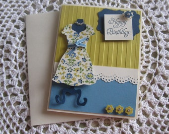 Handmade Greeting Card: Shop Til' You Drop Birthday