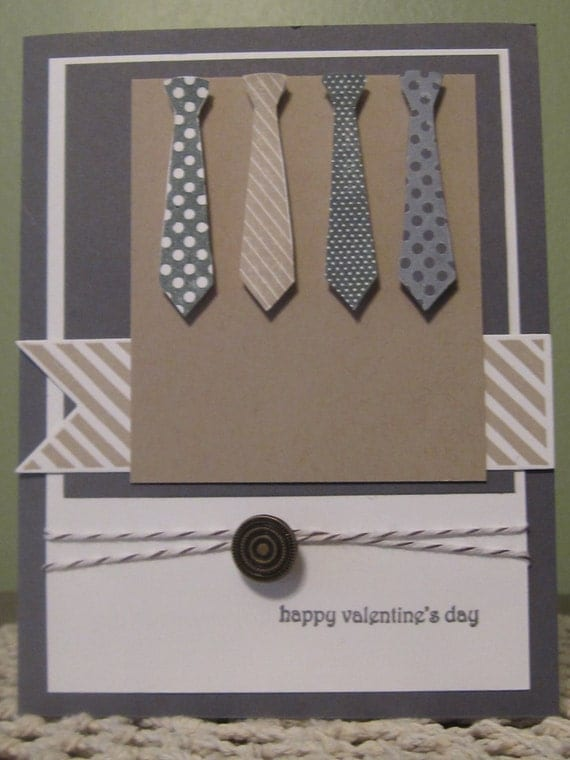 Handmade greeting card masculine valentines day for Four man rubber life craft