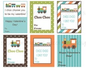 Train Valentine's- Printable Kid's Valentine's