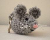 Crochet pattern PDF - Nesta the Mouse key chain