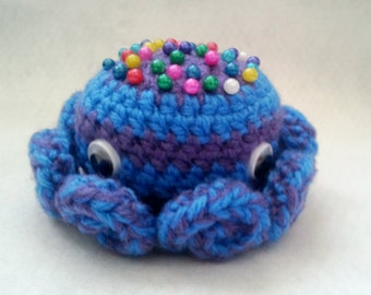 Crochet Octopus Pin Cushion