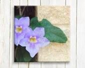 """Purple Floral art on canvas - 12""""x12"""", 30x30 cm"""