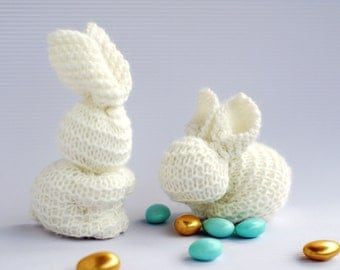 Waldorf Easter Bunnys  - easy knitting patterns. Easter Pattern Sale