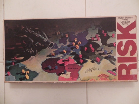 Risk Vintage Board Game No. 44 by Parker Brothers 1980s
