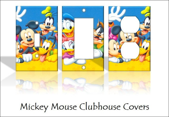 Mickey mouse clubhouse disney light switch by - Mickey mouse clubhouse bedroom curtains ...