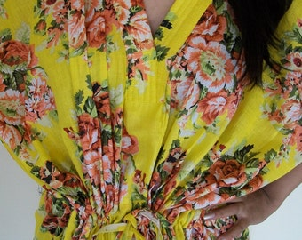 Floral Kaftan , Caftan, Perfect long dress,Nursing caftan , For to be Moms, beach cover up, Sleepwear, Best Gift for her
