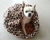 Cheetah & Light Green Pet Cuddle Bag