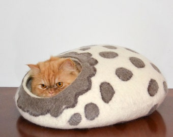 Cat bed, cat furniture, Wool Cat cave, pets house