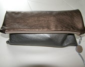 Soft Faux Leather Fold Clutch Bag Handmade In France