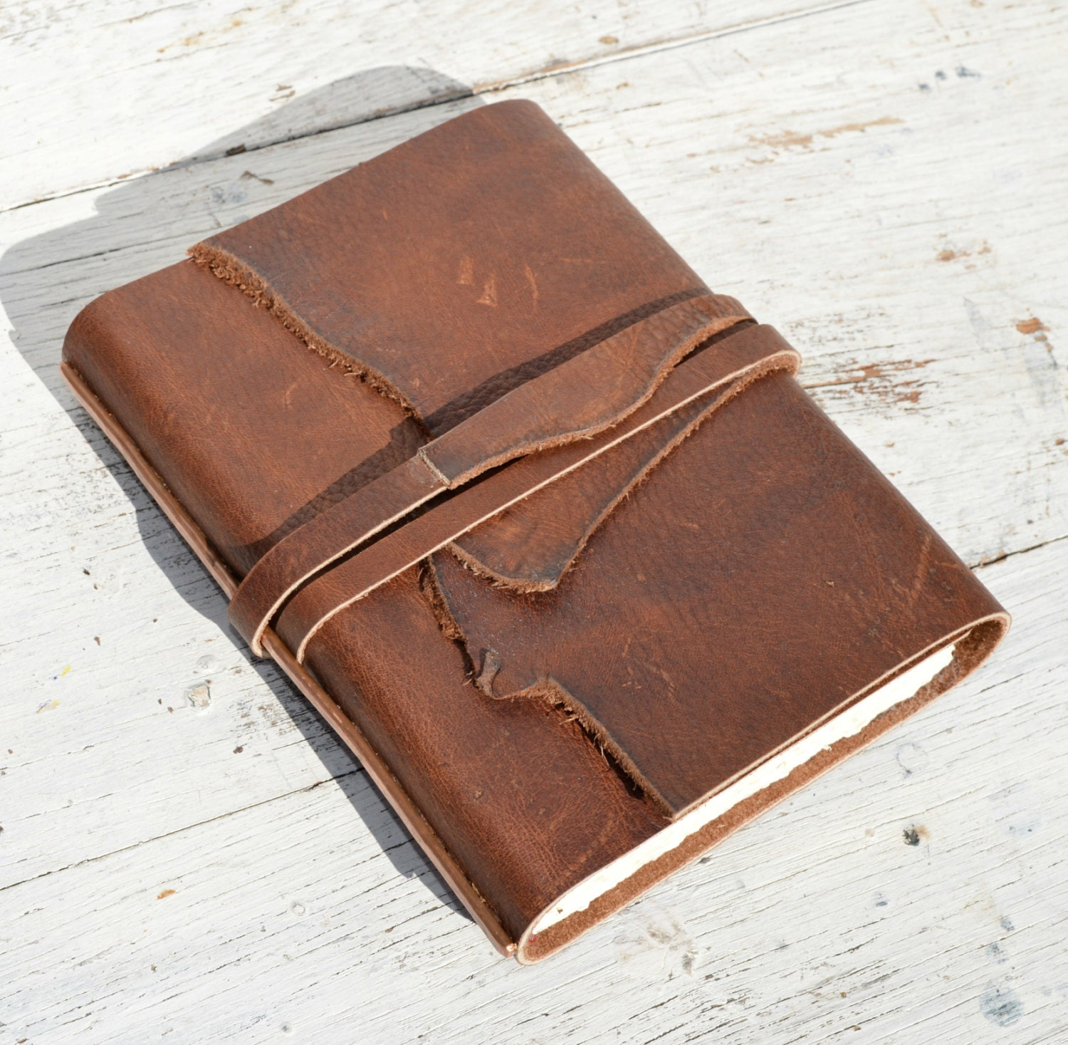 What To Put On A Coffee Table Handmade Leather Journal Bound Cowboy Western Travel Diary