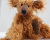 Chocolate Moose  mohair artist moose bear, just 4 inches