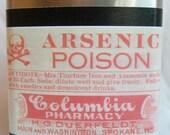 Vintage Label Flask - Arsenic Poison
