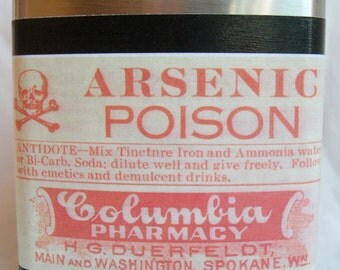 Arsenic Poison flask- FREE SHIPPING
