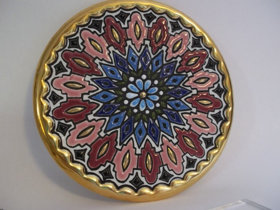 Cearco Enamel Handmade Spanish Plate Collectibles From