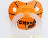 Personalized Pacifier 2 Sports Theme Orthodontic Silicone Pacifiers-0-6M