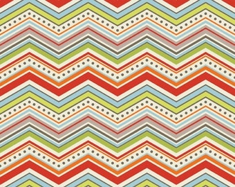Chevron in Cream: One For The Boys By Zoe Pearn for Riley Blake 1 Yard Cut