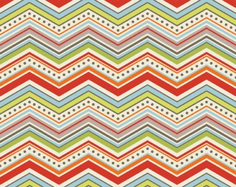 Chevron in Cream: One For The Boys By Zoe Pearn for Riley Blake 1/2 Yard Cut