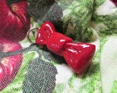 Cute Red Bowtie Charm. Doctor Who Bowtie. Made to order