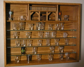 Shot Glass Case with Doors