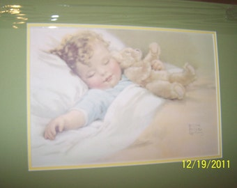 """Vintage Print from the 1940's """"Happy Dreams"""" by Bessie Pease Gutmann ~ Ready to Ship"""