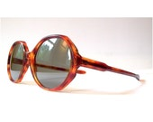 60s Octagon Sunglasses, Mod Tortoise Shell 1960s Jackie O Sunglasses, Amber Frame Round Glasses - sunnyspex