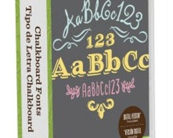 CRICUT Cartridge - CHALKBOARD FONTS - NeW in PKg. and Sealed - Very Popular Font Cartridge !