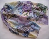 Hand Painted Silk Scarf Summer Evening