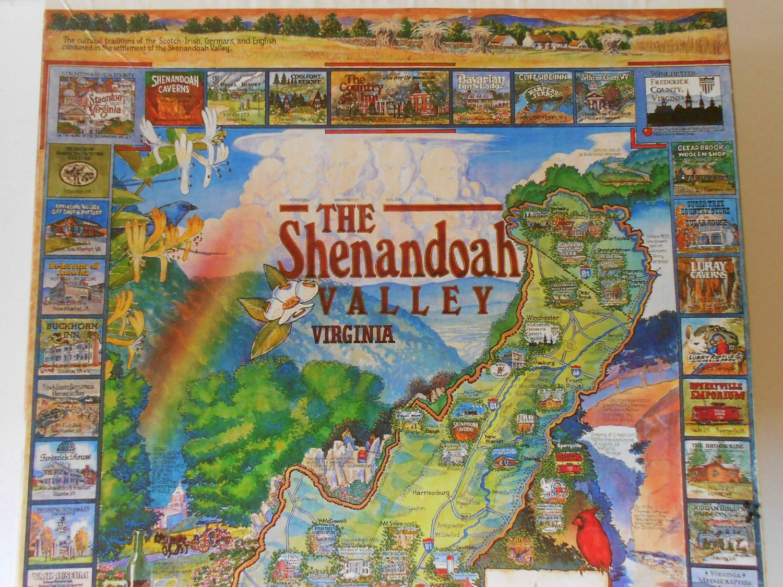 Vintage Jigsaw Puzzle Of Shenandoah Valley Virginia Historic