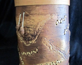 The Grand Birch Bark Container /Eco friendly / It is 100% natural product.