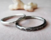 Hammered Tiny Sterling Silver Band Ring - Made to Order Any Size 4, 5, 6, 7, 8, 9,10
