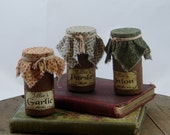 Spice Jars, Primitive, Home and Living, Kitchen, Housewarming