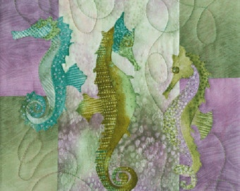 "McKenna Ryan ""Sea Breeze"" The Snooty Sisters (Block 2) Seahorses, Quilting"