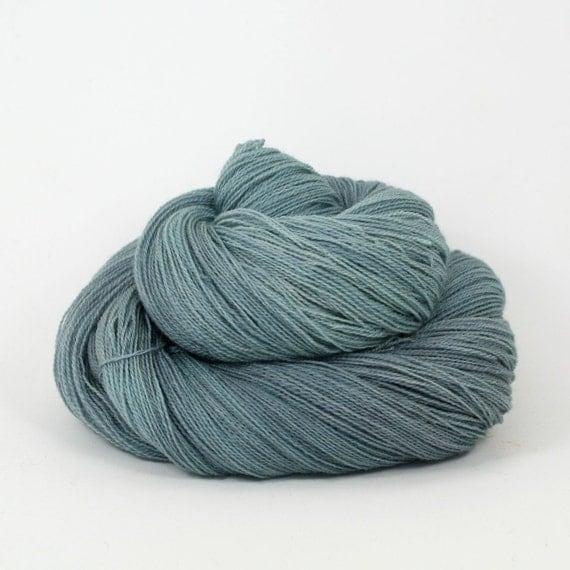 Lyra - Hand Dyed Merino Tussah Silk Lace Yarn - Colorway: Harbor