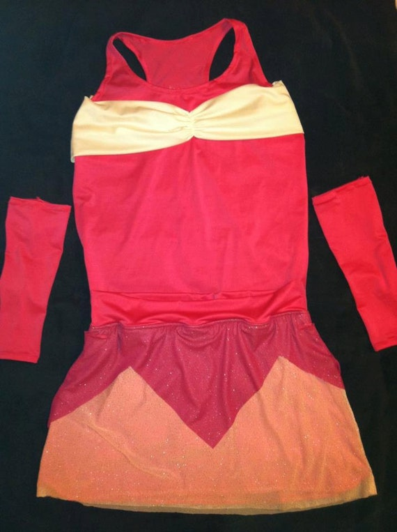 princess running costume with sleeves