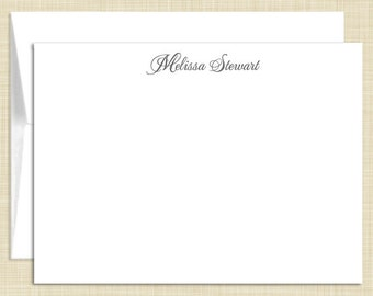 Personalized Flat Note Cards Stationery Set - Feminine Name - personalized stationary - set of 10 - choose color and font